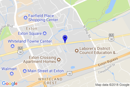 Google Map of 500 E. Lincoln Highway, Exton Pa. 19341