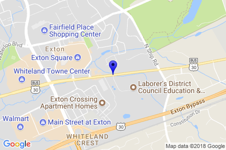 Google Map of 500 East Lincoln Highway, Exton, Pa. 19341